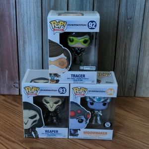 Set of 3 Funko Pop! Overwatch Figures